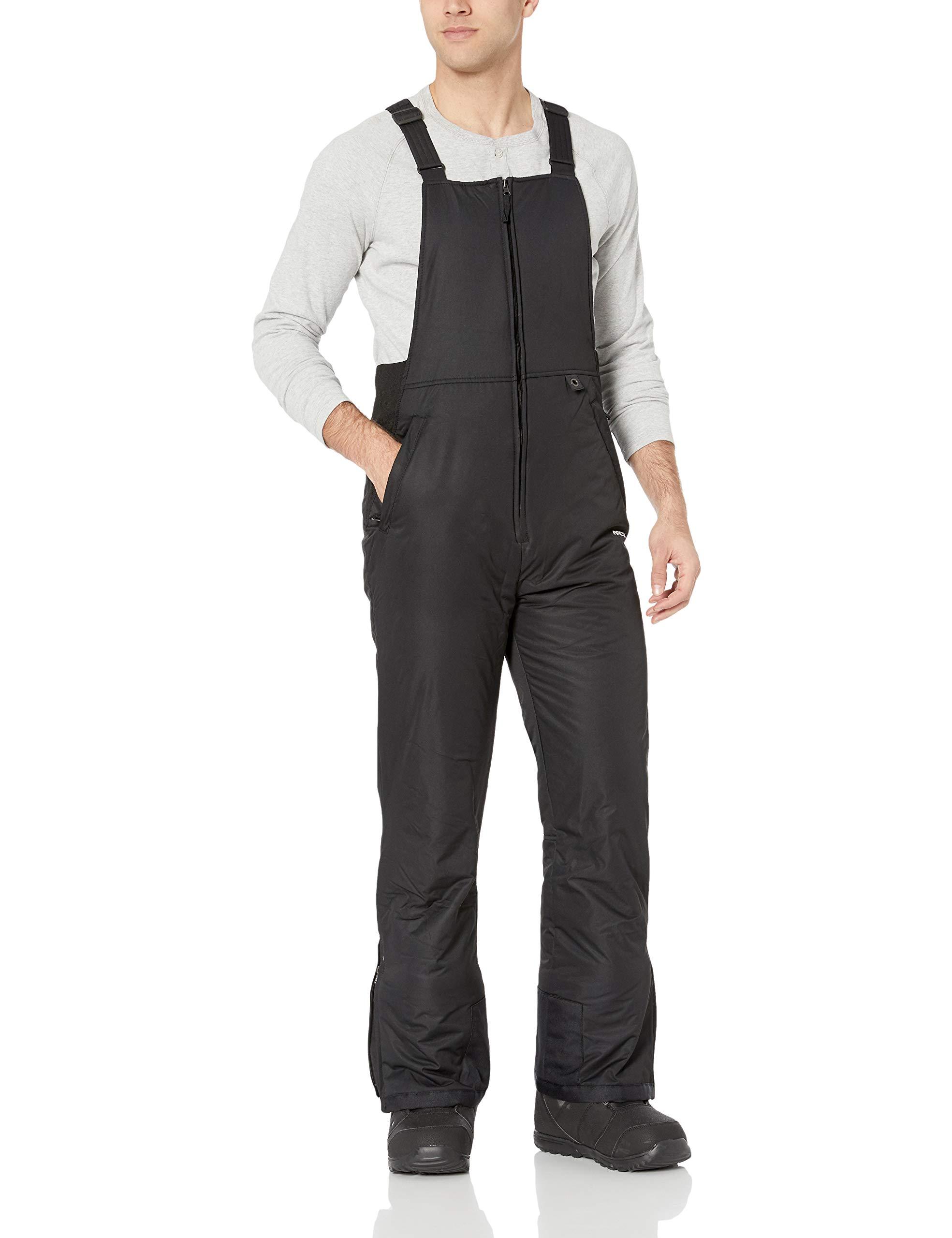 Arctix Men's Essential Insulated Bib Overalls, Black, Small (29-30W 34L) by Arctix