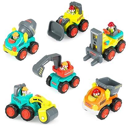 Amazon Com Construction Vehicle Toy Trucks Push And Go Sliding Cars