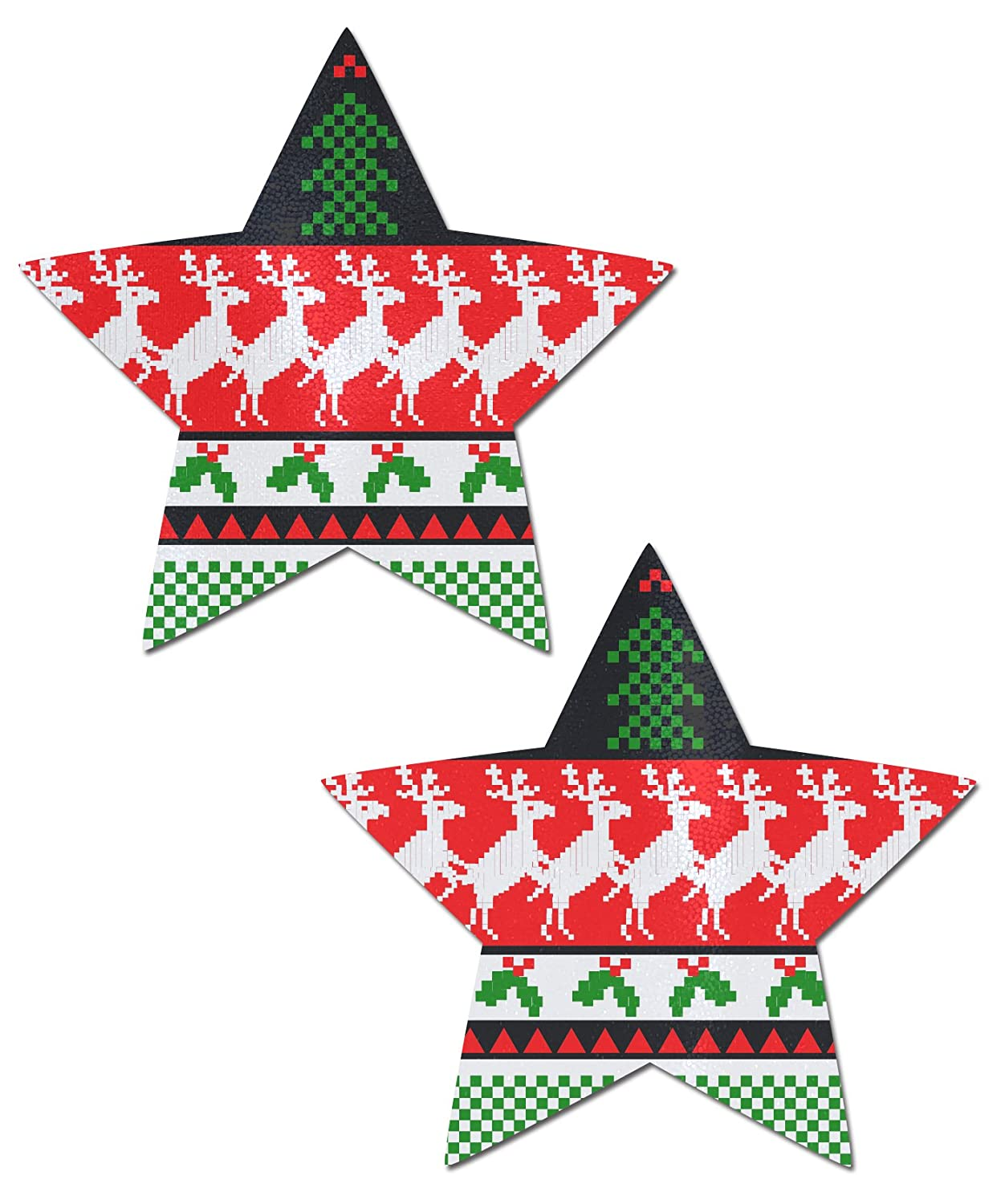 Pastease Ugly Sweater Star Nipple Pasties by o/s STR-SWT