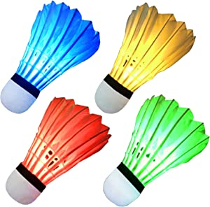 Giveaway: LED Badminton Shuttlecocks Feather Badminton Birdie Light...