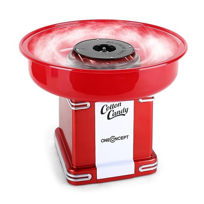 oneConcept Candyland 2 Máquina de algodón de azúcar, color rojo rojo oscuro: Amazon.es: Hogar
