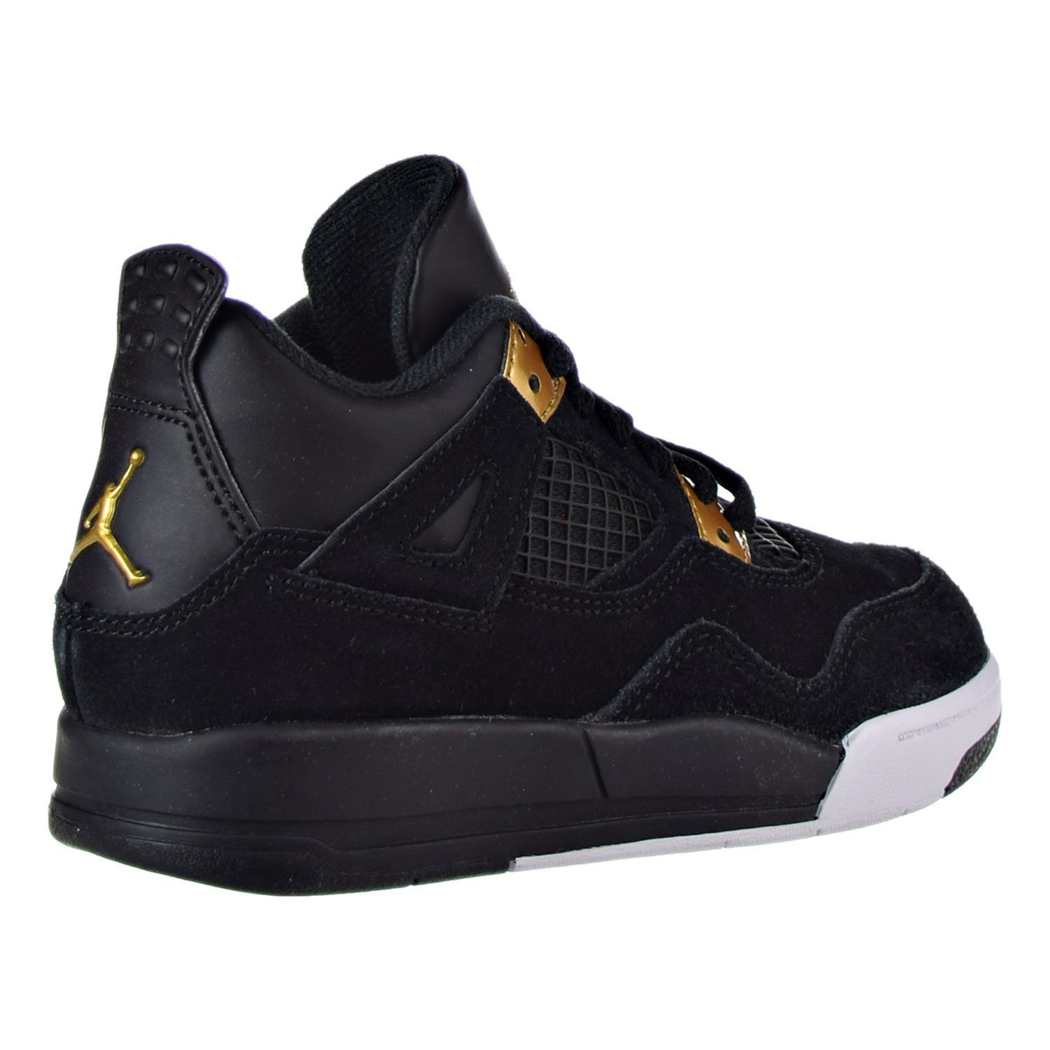 84c0c137ad5a ... norway amazon boys toddler jordan retro 4 basketball shoes 308500 032  black metallic gold white 4c