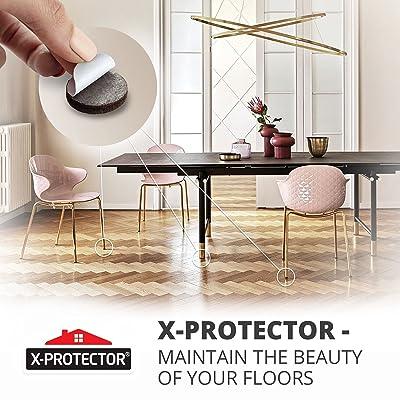 X-PROTECTOR 357 pcs Premium HUGE PACK Felt Furniture Pads HUGE QUANTITY of Felt