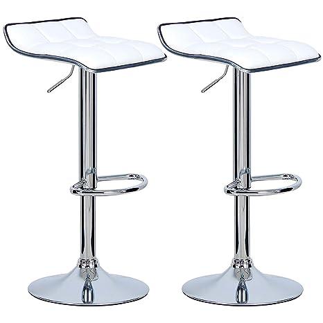 Amazon.com: QIDI Bar Stools Grey Bar Chairs Breakfast Set of 2 Pcs ...