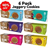 Early Foods - Assorted Pack of 6 - Organic Ragi, Dry Fruit, Millet, Beetroot, Gluten Free, Chocolate Jaggery Cookies X 6