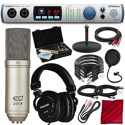 Amazon.com: PreSonus Studio 192 móvil 22 x 26 USB 3.0 ...