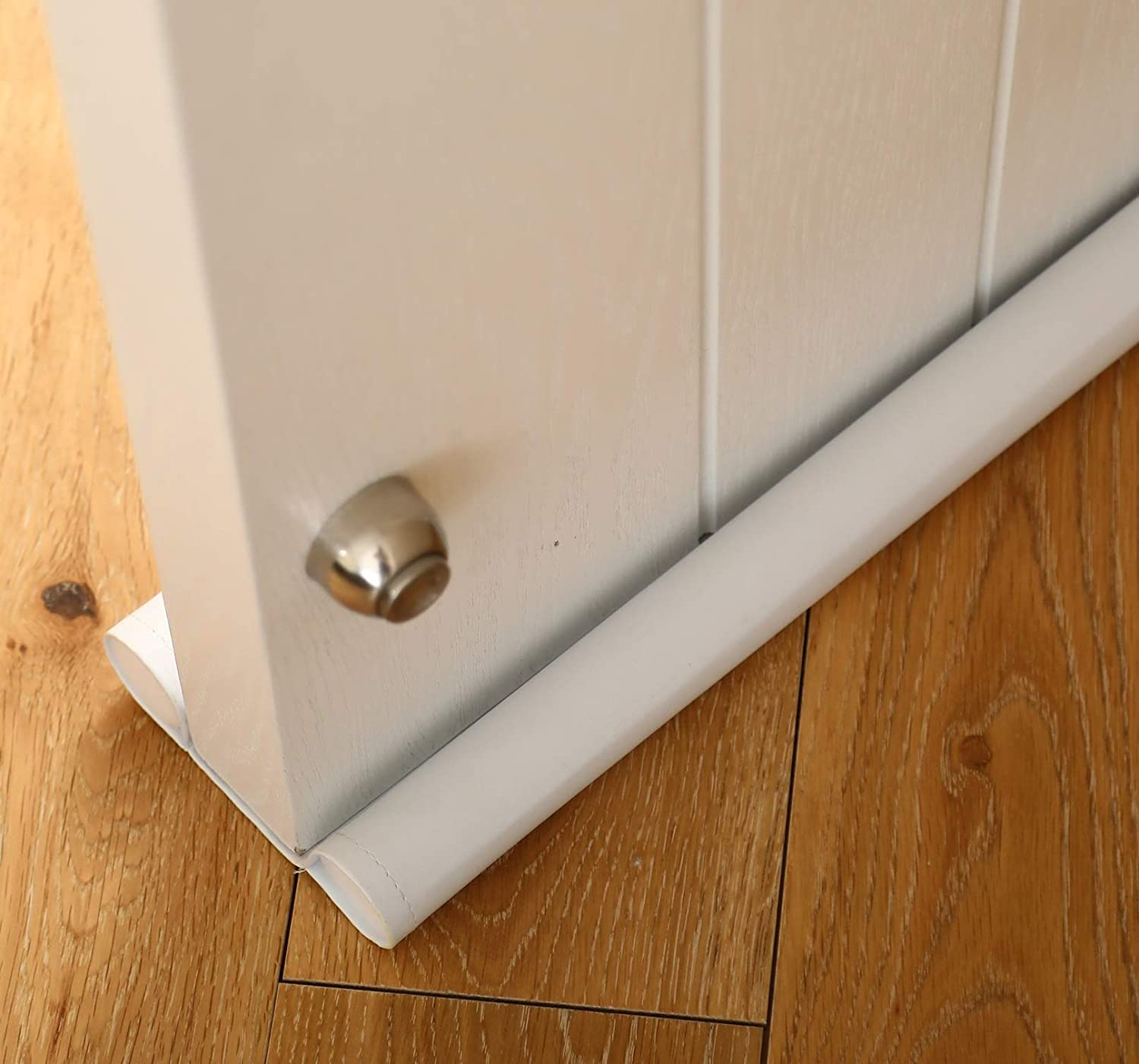 set of 2 Draught stopper for doors door seal. white can be cut to size double sided protection against draughts