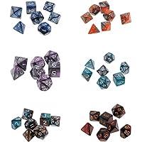 MagiDeal 42 Piezas Dados Poliédricos de Dos Colores para Dungeons y Dragons Juego de Mesa 16mm
