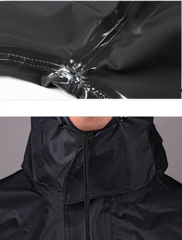 Mrw Adult Split Split Raincoat Hommes et Femmes Raincoat Rain Coat Pants Set Red XXXXL