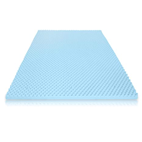 huge discount 85b4f 709ca Milliard 2in. Egg Crate Gel Memory Foam Mattress Topper - Full, Mattress  Pad Provides Great Pressure Relief, Gel Infusion Contributes to a Cooler ...