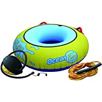 Ocean Fun Diversión Anillo Buñuelo Flotador Inflable Remolque PVC Splash Playa Piscina Mar Barco Adulto Niño Manijas…