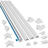 D-Line 3015KIT001 Multipack de Canaleta para Cableado, Blanco