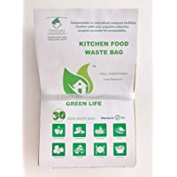 Green Life 100% Compostable Kitchen Food Waste Bag (Small, Light Brown)