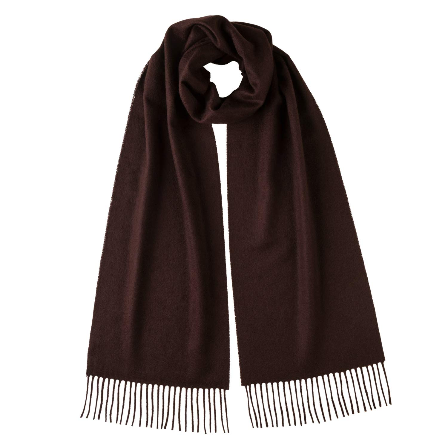 Chocolate Johnstons Of Elgin Women's Pure Cashmere Plain Scarf
