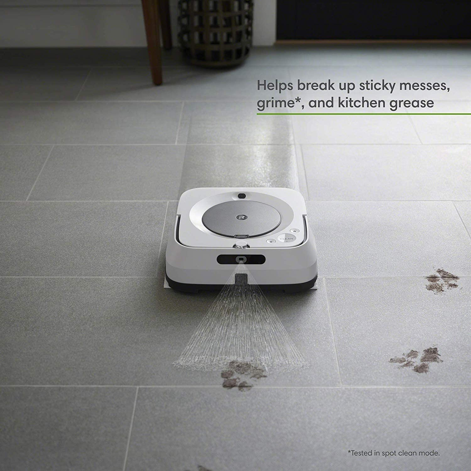 6110 +7 Extra Dry Sweeping Pads Works with Alexa iRobot Braava Jet m6 Recharges and Resumes Precision Jet Spray Ideal for Multiple Rooms Ultimate Robot Mop- Wi-Fi Connected Smart Mapping