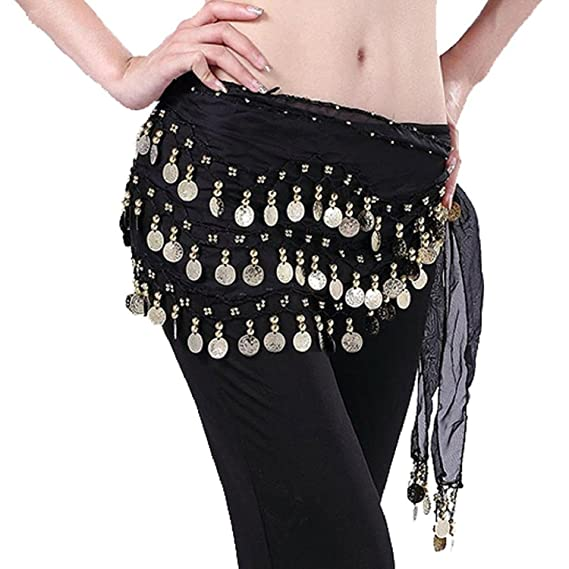 New Belly Dance Costume Coins Tribal Hip Scarf Belt Gold//Silver 2 colors
