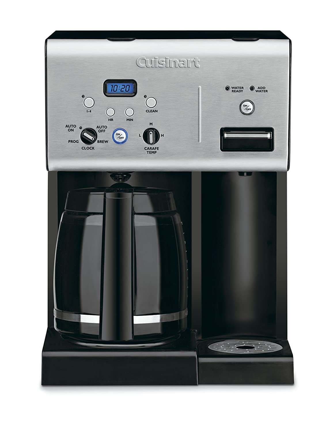 Cuisinart CHW-12 Coffee Plus 12-Cup Programmable Coffeemaker with Hot Water System, Black/Stainless Cuisinart Kitchen Electrics