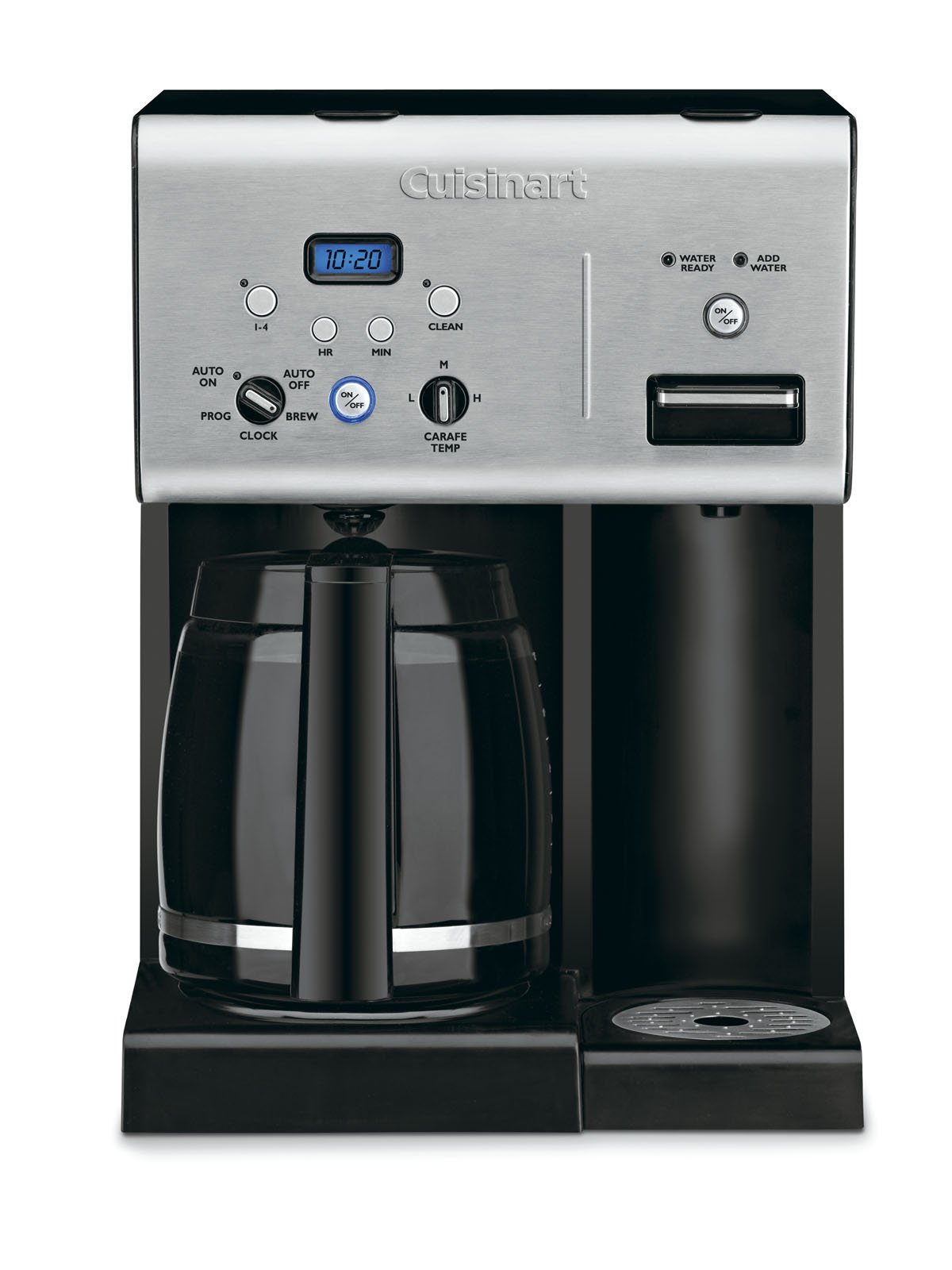 Cuisinart CHW-12 Coffee Plus 12-Cup Programmable Coffeemaker with Hot Water System, Black/Stainless by Cuisinart