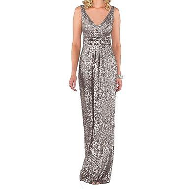 Aiyana ärmellos Gold Brautjungfer Kleid Party kleid Langes ...