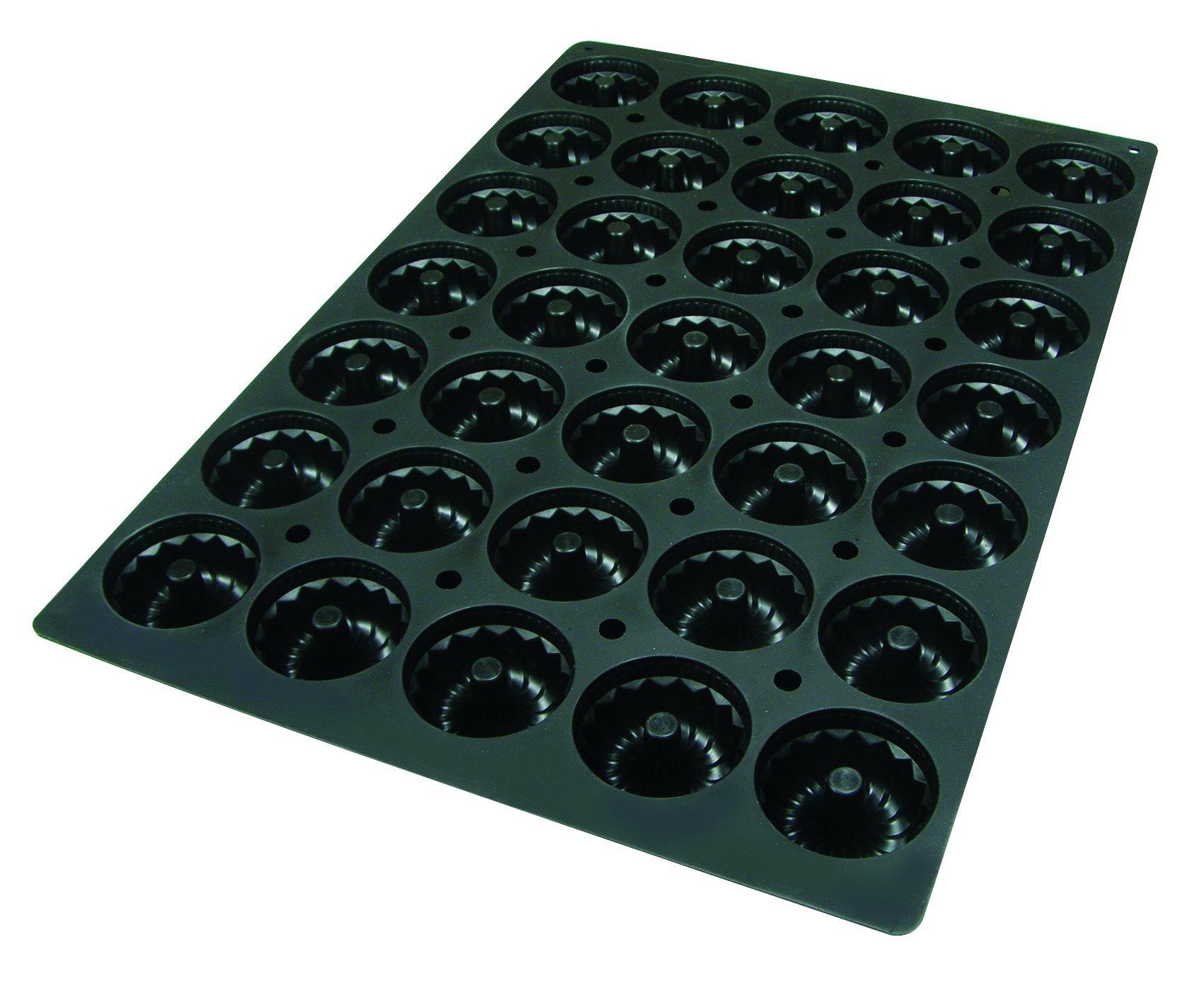 Lekue Professional Baking 35 Cavities Savarin Mold, 23.6'' x 15.7'', Black
