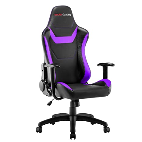 Mars Gaming MGC218 - Silla profesional, tecnología AIR, reclinable 180°, morado: Amazon.es: Hogar