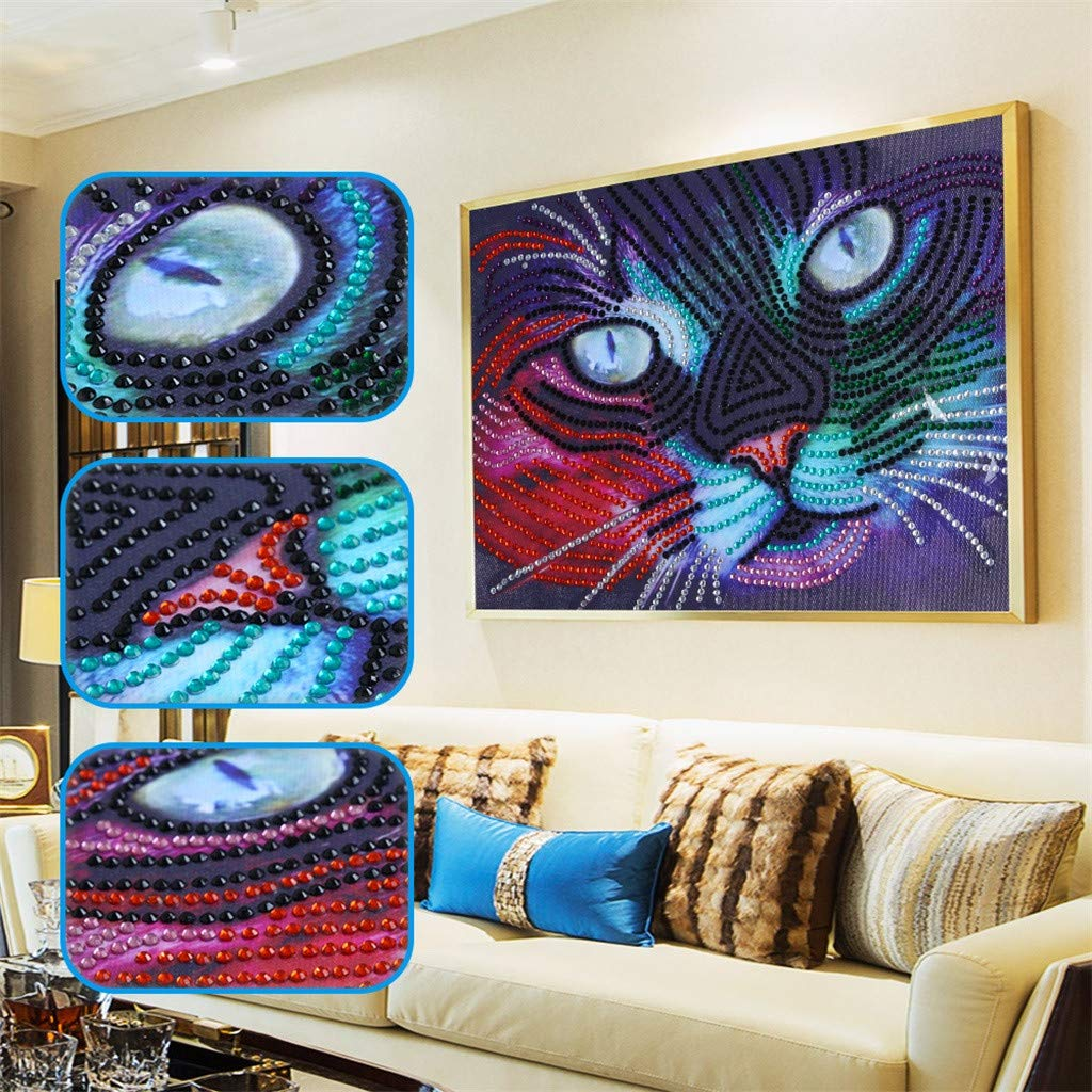 Allywit Special Shaped Diamond Painting DIY 5D Partial Drill Cross Stitch Kits Crystal for Wall Decoration Supply Arts Craft Best Gift