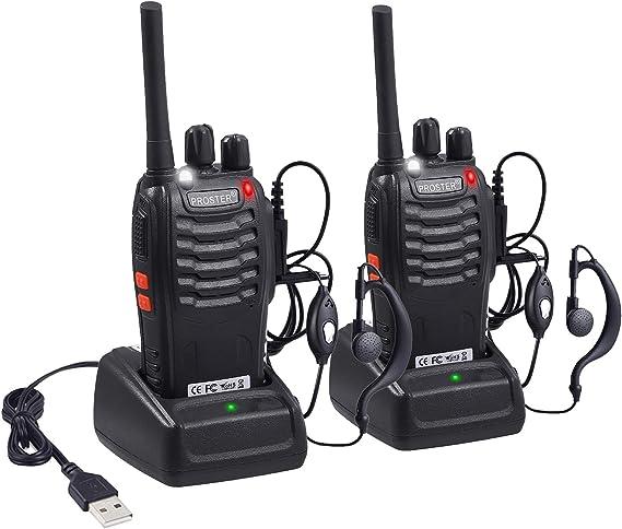 Proster Walkies Talkies Batería Recargable Walky Talky Profecionales 16 Canales CTCSS DCS Transmisores Receptores Radiocomunicación Gran Alcance ...