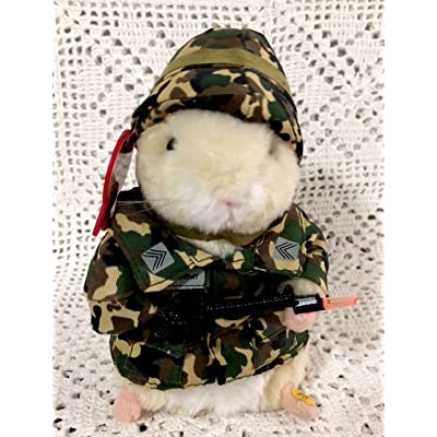 Sgt Scruffy US Army dancing hamster by Gemmy: Toys & Games