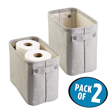 Toilettenpapier Aufbewahrung mdesign 2er set zeitungskorb fürs bad stilvolle toilettenpapier