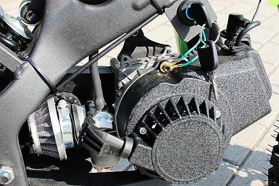 ORION Mini Cross 49cc 2 tiempos Mono Gear: velocidad ajustable, motor de arranque de aluminio, ruedas de 10