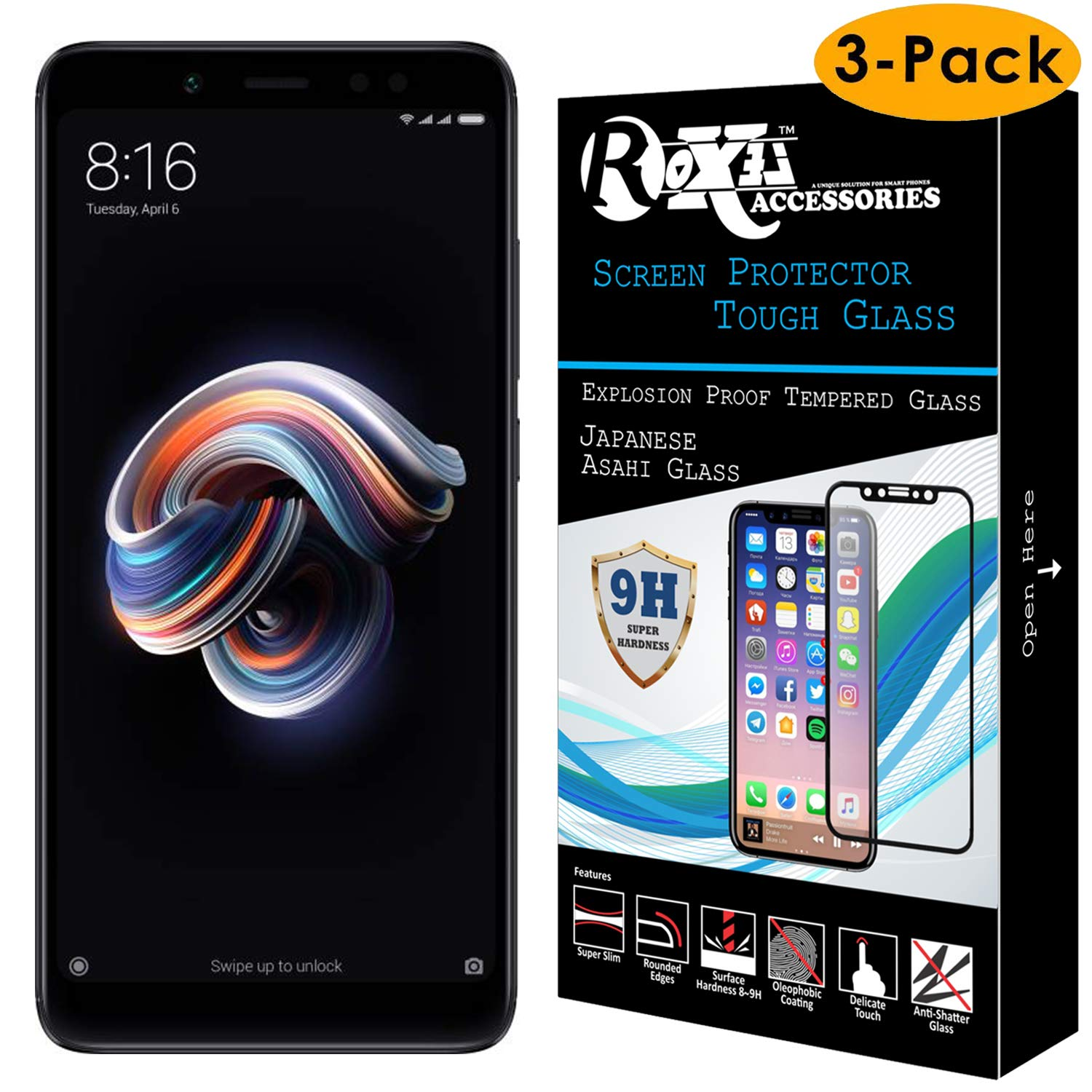 Roxel for Redmi Note 5 Pro Screen Protector: Amazon in: Electronics