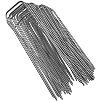 Heavy Duty 11 Gauge Galvanized Steel Garden Stakes Staples Securing Pegs for Securing Weed Fabric Landscape Fabric Netting Ground Sheets and Fleece