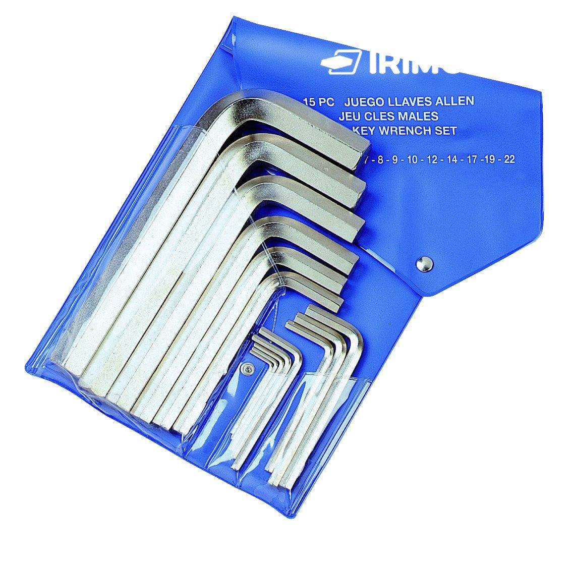 Irimo llaves acodadas - Juego llave hexagonal macho acodado n-1 niquelado bolsa 10u 041021