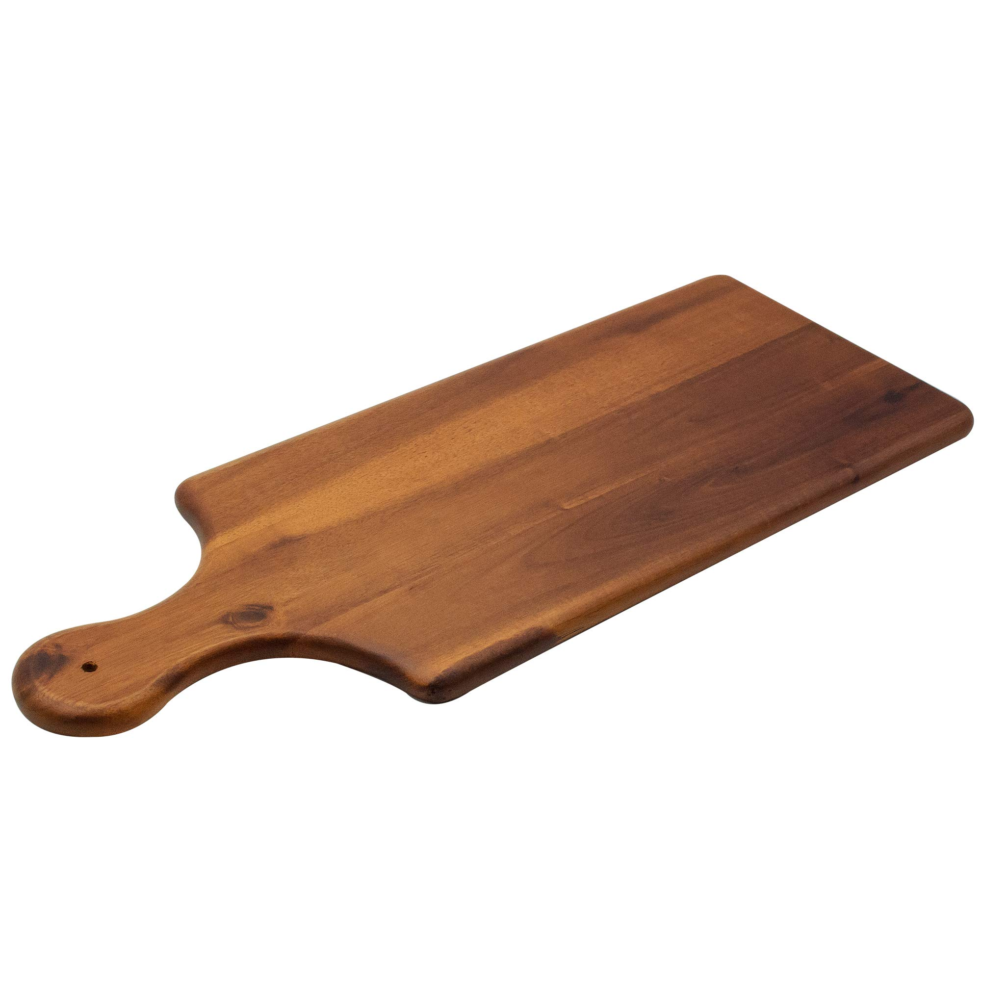 AIDEA Acacia Wood Serving Paddle Board - Reversible Wooden Cheese Board 17 Inch by AIDEA (Image #4)