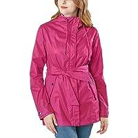 TSLA Women's Lightweight Hooded Water-Proof Active Outdoor Trench Raincoat/Rain Jacket/Packable Rainsuit