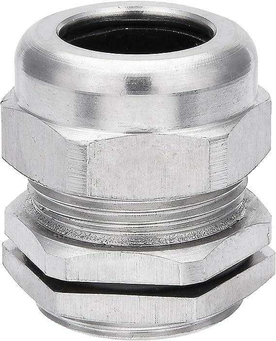 sourcing map 20Stk.Kabelverschraubung 5mm-10mm M18x1,5 Wasserdichtes Kontermutter mit Unterlegscheibe Wei/ß