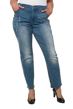 7f2f9cf72d Ulla Popken Women's Plus Size Fashionable Pre-Washed Boyfriend Jeans 717314  at Amazon Women's Jeans store