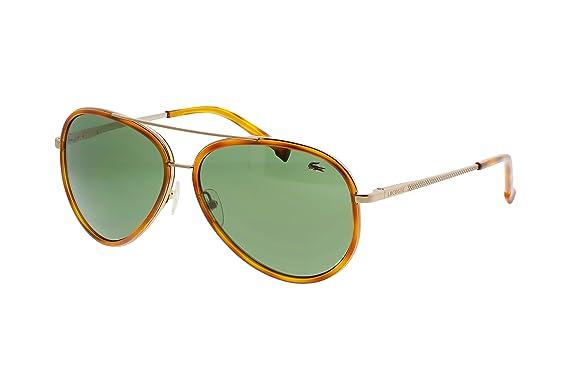 Amazon.com: Lacoste anteojos de sol l142s 210 marrón 58 13 ...
