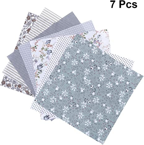 Black ARTIBETTER 10 Pcs Floral Printed Cotton Patchwork Precut Fabric Quilting Square Sewing Quarter Bundle for DIY Craft Quilting Baby Bedding Sewing