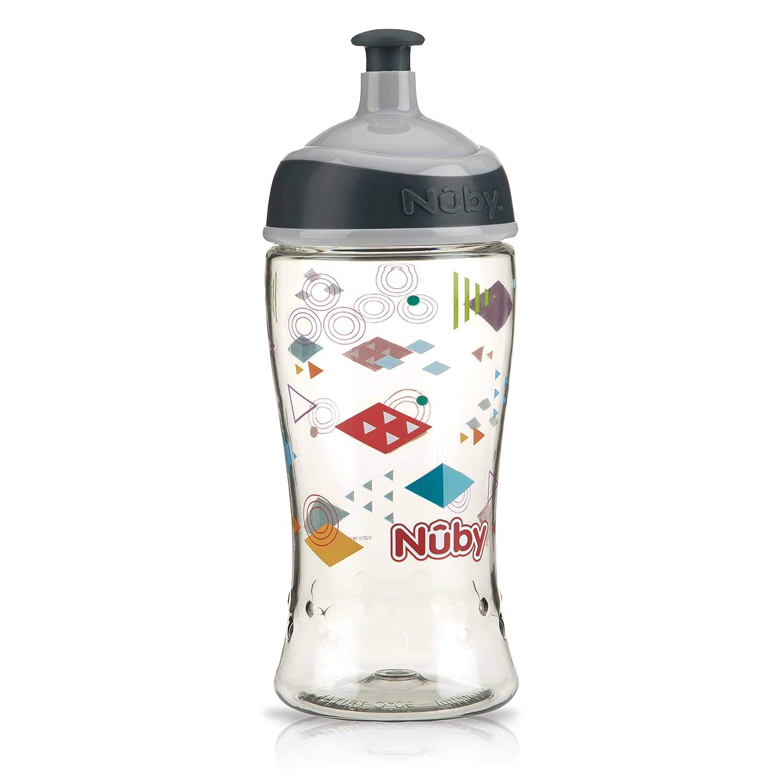 360 ml- 3 Jahre+ Pop-Up Trinkbecher aus Tritan grau Nuby