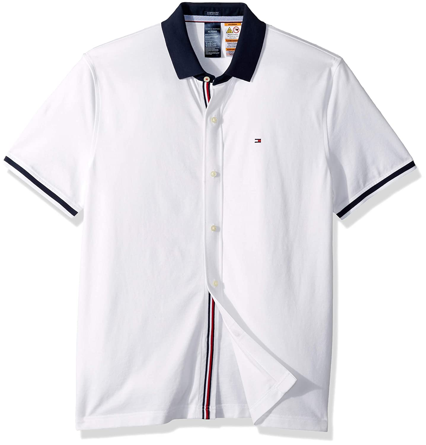 Tommy Hilfiger Adaptive Mens Polo Shirt With Magnetic Buttons