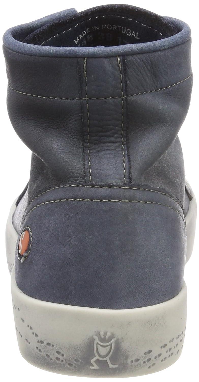 Softinos Damen Kip448sof Washed Blau Hohe Sneaker Blau Washed (Navy) 9fd4d8