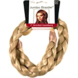 "Mia Jumbo Braidie Headband-3/4"" Wide Braided Headband Made Out Of Synthetic/Faux Wig Hair-Blonde Color May Vary-Elastic One Size Fits All (not returnable)"