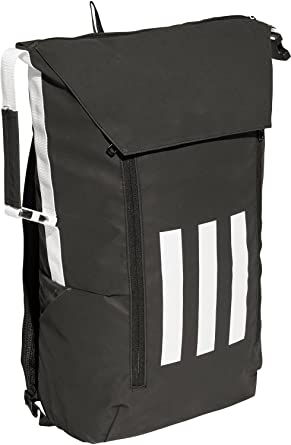 4c3590fff Amazon.com | Adidas 3-Stripes Versatile ID Backpack (One Size, Black ...