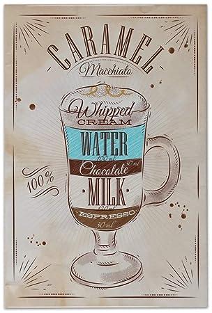 Azulejo Coffee Cafe Bar Receta dulce de leche Ceramica impreso 20x30 cm: Amazon.es: Bricolaje y herramientas