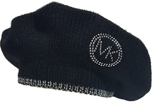 affc50faadeff Image Unavailable. Image not available for. Color  Michael Kors MK Silver  Logo Beret ...