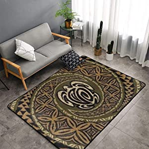 Bedroom Livingroom Sitting-Room Big Size Area Rug Home Decor - Hawaiian Tapa Honu Turtle Deluxe Floor Mat Doormats Fast Dry Toilet Bath Rug Exercise Mat Throw Rugs Carpet