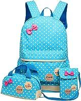 Moonwind Polka Dot 3pcs Kids Book Bag School Backpack Handbag Purse Girls Teen
