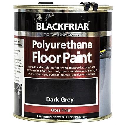 Professional Polyurethane Floor Paint DARK GREY 500ML: Amazon.co.uk: DIY & Tools