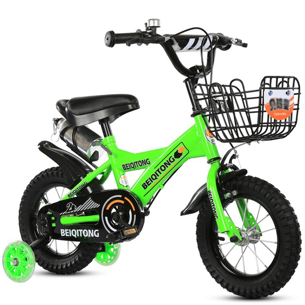 子供用三輪車バイク2-8ベビーカー用三輪車用グリーン100kg (サイズ さいず : 14inch) B07F2F5WGM 14inch 14inch